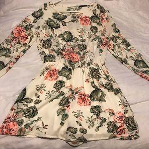 Dresses & Skirts - Floral Long Sleeve Romper
